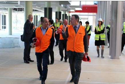 Minister for Education, James Merlino, and the CEO of Box Hill Institute, Normal Gray at the even